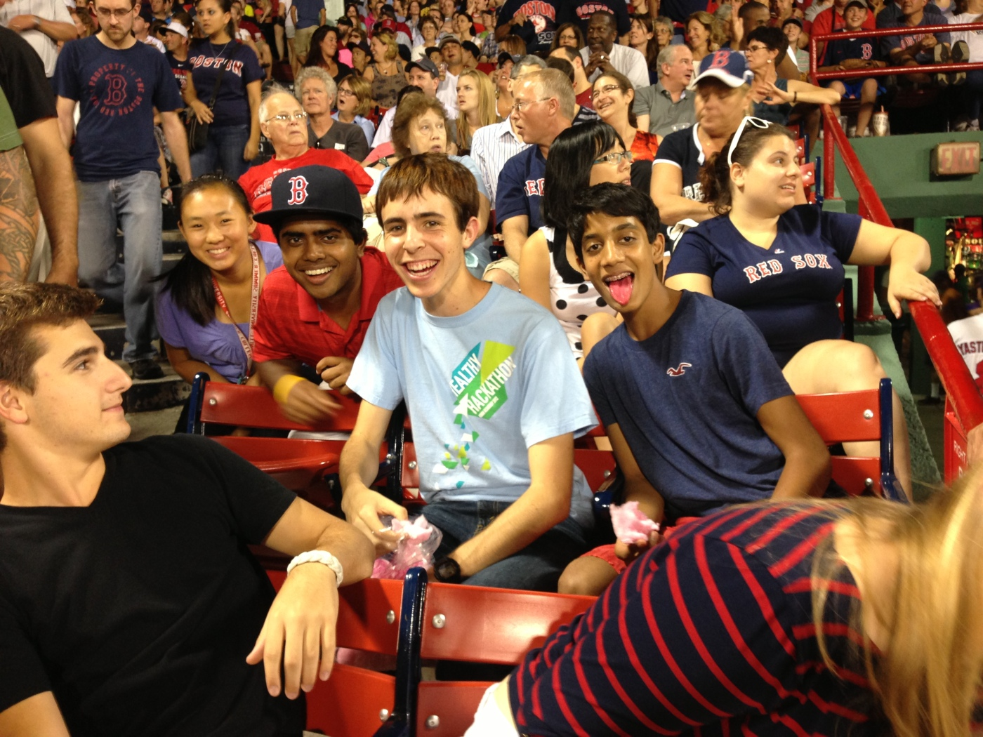 Goofing off at the game