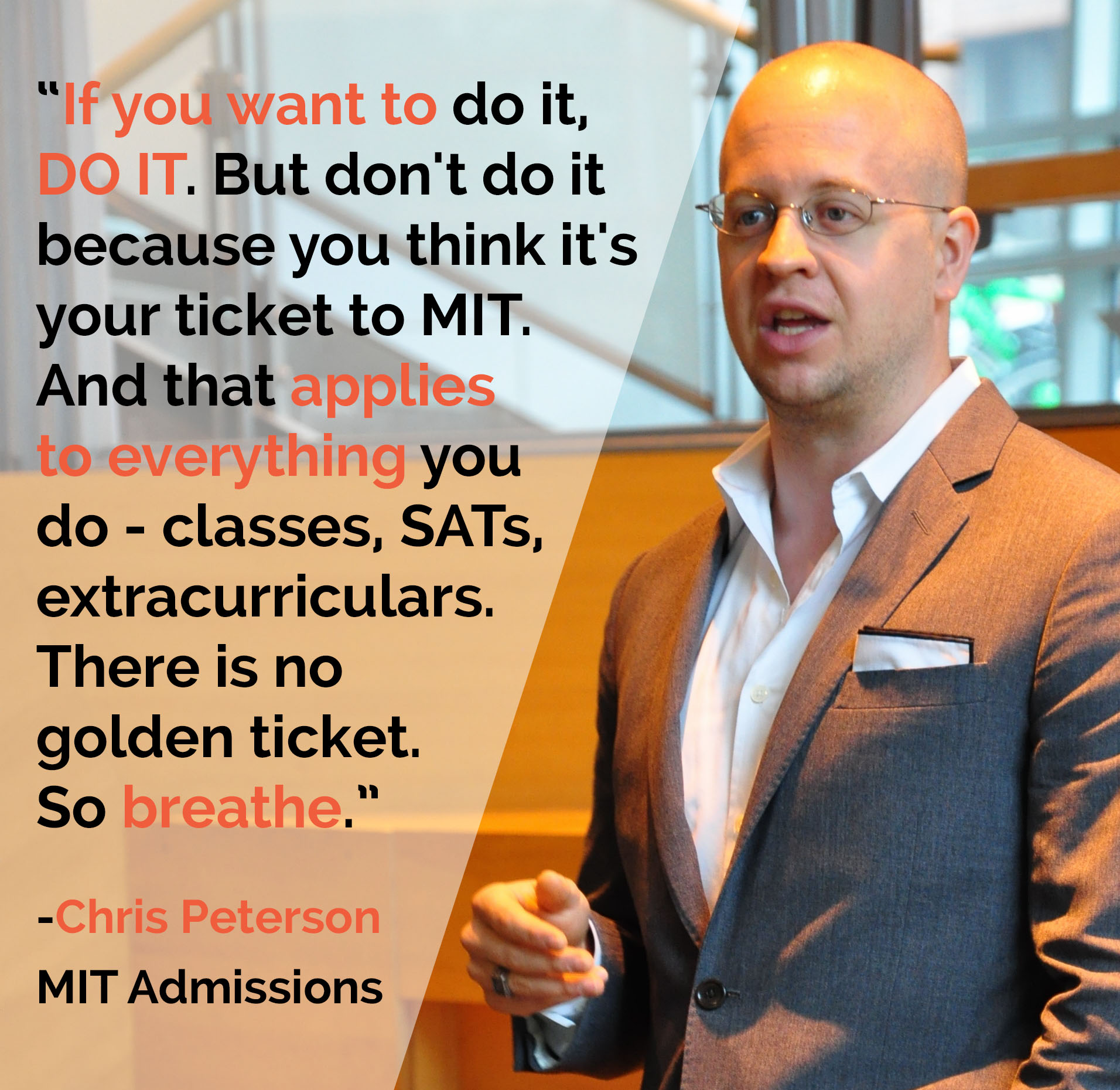 will starting a company get me into college blog chris peterson from mit admissions speaks during our program advises launch and offers additional excellent perspective in his blog here s what you need