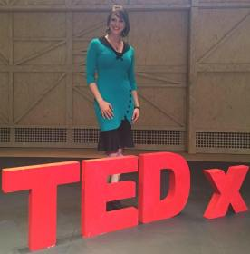 photo of Laurie Stach at TEDx talk